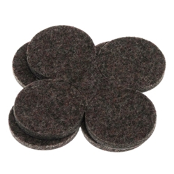"5001D - 2 Sets of Four 1.5"" Industrial Strength Adhesive Felt Disks"