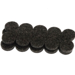 "D5003 - 3/4"" dark brown felt pads"