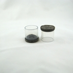 "D6825 - 1"" to 1-1/4"" clear sleeves with dark brown felt"