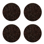 "5015D - Four 4"" Industrial Strength Adhesive Dark Color Felt Disks"